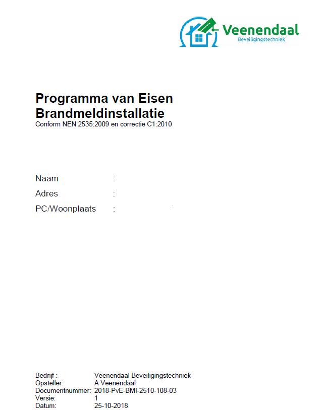 PvE programma van eisen